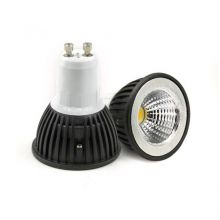DIMMABLE GU10 3W COB LED BULB IN COOL WHITE IN BLACK SHELL